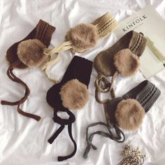 Winter Clothes Sale, Clothes For Sale, Pineapple Co, Head Accessories, Pink Beige, Earmuffs, Christmas Gifts For Kids, Ear Warmers, Winter Collection
