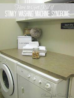 stinky front loading washing machine