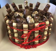 Kinder Bueno / chocolate / hippo / kinder egg cake made for a friend
