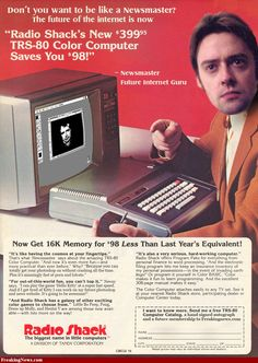 Radio Shack Ad.Too bad - they were a leader in personal computers back in the day. Now look at them.