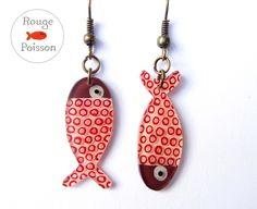 Boucles+d'oreilles+Poisson+de+Rouge+Poisson+sur+DaWanda.com