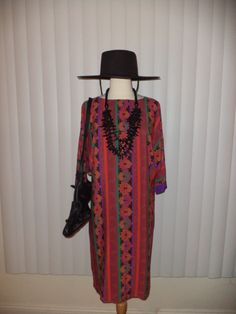 Vtg Boho Silky Batik Paisley Floral Multicolor Gypsy Dress Sz S - M by casadelagitana on Etsy
