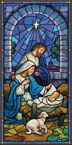 """The Nativity"""" Stained Glass Window Christmas Scenes, Christmas Nativity, Christmas Pictures, Christmas Crafts, Merry Christmas, Christmas Printables, Religious Pictures, Jesus Pictures, Stained Glass Church"""