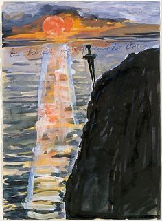 """Anselm Kiefer (German, 1945). My Father Pledged Me a Sword, 1974–75. The Metropolitan Museum of Art, New York. Purchase, Lila Acheson Wallace Gift, 1995 (1995.14.14) 