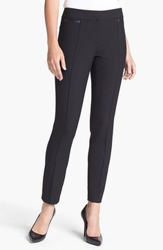 Classiques Entier® 'City Weave' Skinny Ankle Pants available at #Nordstrom