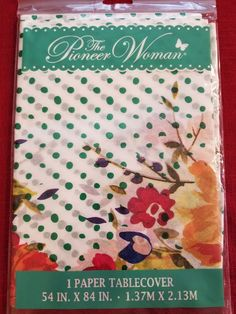 New paper tablecloth from The Pioneer Woman. Choose your pattern. Your box will be marked with fragile stickers. Paper Tablecloth, Pioneer Women, Empty, Nest, I Shop, Woman, Printed, Pattern, Crafts