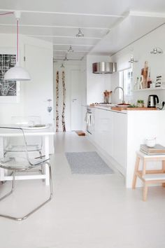 Kitchen:Long Narrow Rustic Storm Nordic Kitchens Playa De Las Americas Style Scandinavian White Cabinets Countertops Island Kitchenware Accessories Furniture Dining Table Chairs Design Decor Ideas New Nordic Kitchens Design : Scandinavian Interior Decor Ideas