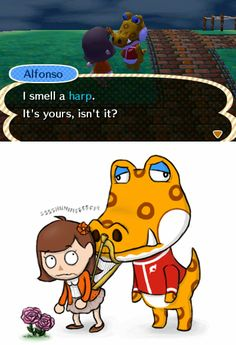 Dammit Alfonso, I thought the smell wouldn't be too obvious ~Animal Crossing