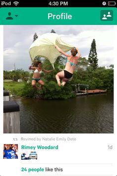 Parachute/sheet bridge jumping?
