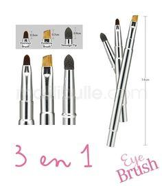 Pinceaux de maquillage 3 en 1 Pro Skill Multi Block