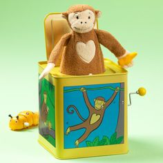Shop for baby toys and games at Crate and Barrel. Explore a variety of wooden and plush toys, activity chairs and floor mats, rattles, teethers and more. Baby Toys, Kids Toys, Old Fashioned Games, Monkey 3, Jack In The Box, Pull Toy, Toy Boxes, Nursery Rhymes, Crate And Barrel
