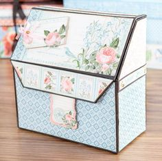 Beautiful box made fromt he @graphic45 Time to Flourish Collection! Shop now: http://www.createandcraft.tv/Graphic_45_Deluxe_Collector%40es_Edition_Papercraft_Set_-_ABC_Primer-338290.aspx?p=1 #papercraft #craft