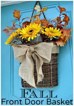 Fall Front Door Basket   chatfieldcourt.com