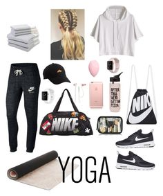 """Untitled #202"" by missmarvel2203 ❤ liked on Polyvore featuring NIKE, Laura Ashley, ban.do, Charlotte Russe, JBL, Hamam and Kipling"