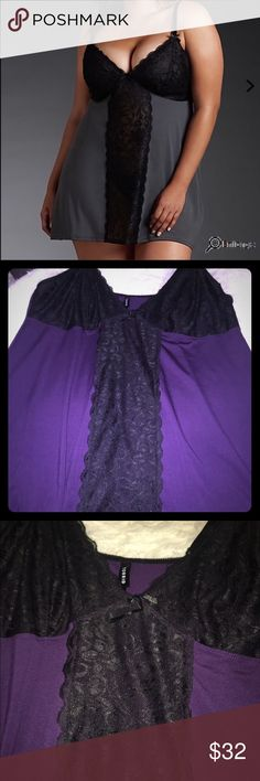 💕Valentines Day Sale💕 Plum Lace Chemise This is the lowest Price this will be and will go back up after the Valentines Day Sale!!!! Get it before it's gone!!! Torrid size 3: Beautiful plum and black Lace Chemise from torrid, super comfortable and still elegantly sexy!!! NWOT, never been worn :) torrid Intimates & Sleepwear Chemises & Slips