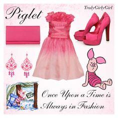 """Disney Style: Piglet"" by trulygirlygirl ❤ liked on Polyvore featuring Tadashi Shoji, Carvela, Smythson, Tarina Tarantino, piglet, disney, winnie the pooh and trulygirlygirl"