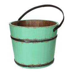 Antique Revival Vintage Wooden House Bucket & Reviews | AllModern