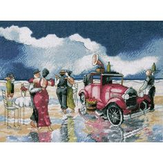 Designed by the artist Ronald West for Design Works, this intriguing cross stitch kit is a piece of art.  £25.96 | Design Works