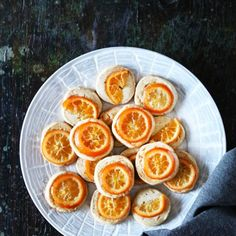 5 Spice Shortbread with Candied Clementine