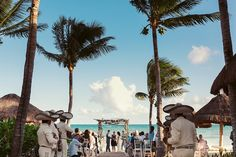 Beach destination wedding with Mariachis at the @mahekalplaya, Playa del Carmen, Mexico. Quetzal Photo