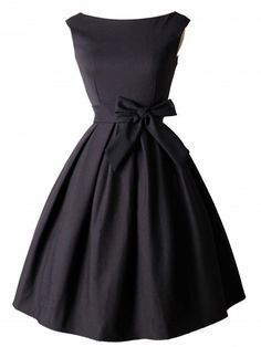 Buy Boat Neck Bowknot Plain Skater Dress online with cheap prices and discover fashion Skater Dresses at Fashionmia.com.