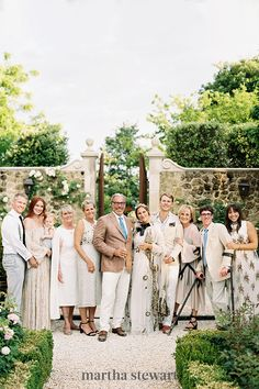 In today's day and age, anything's possible. We've seen couples send color palettes in their wedding invitations, which their guests were asked to dress according to. As seen with this Italian countryside wedding color scheme. #weddingideas #wedding #marthstewartwedding #weddingplanning #weddingchecklist Outdoor Wedding Attire, Beach Wedding Guests, Destination Wedding, Tuscan Wedding, Greek Wedding, Wedding Stage, Rustic Wedding, Italy Wedding, Trendy Wedding