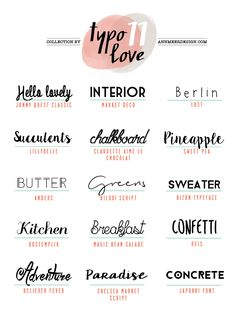 Lovely Fonts #11