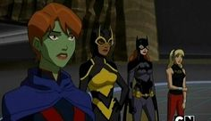 Miss Martian, Bumblebee, Batgirl and Wonder Girl from Young Justice Invasion