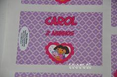 Etiqueta para lembrancinha–Dora Aventureira  :: flavoli.net - Papelaria Personalizada :: Contato: (21) 98-836-0113 - Também no WhatsApp! vendas@flavoli.net