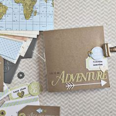 Life Is An Adventure Mini Book by Heather Nichols for Papertrey Ink (July 2016)