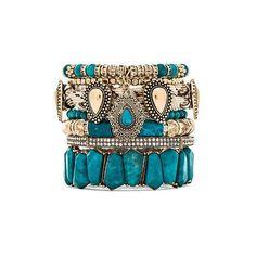 Samantha Wills Southern Sun Bracelet Set Accessories ($240) ❤ liked on Polyvore featuring jewelry, bracelets, accessories, pulseira, bracelet bangle, beaded stretch bracelet, bracelet sets, beading jewelry and stretch bracelet