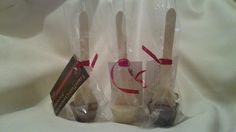 Edible Wedding and Party Favours - Hot Chocolate Spoons; just dip in hot milk. Available in different flavours