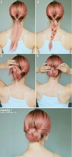 #hairstyle #stepbystep #hairbun #easyhairstyle