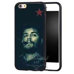Che Guevara cigar Printed Flexible Protection From cell phone bags case cover for iphone 4S 5S 5C SE 6S 7 PLUS Samsung IPOD 4 5