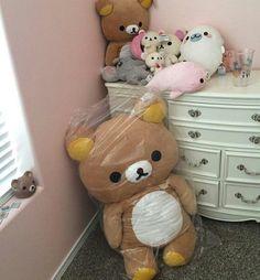 cute, bear, and kawaii imageの画像 Rilakkuma Plush, Kawaii Plush, Cute Plush, Cute Images, Pretty Pictures, Hello Kitty, Baby Pink Aesthetic, Kawaii Room, Cute Stuffed Animals