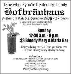 Dine where you're treated like family    Restaurant & G.I. Germany Pub - Biergarten    Cel...   Hofbrauhaus Restaurant and G.I. German Pub - Helen, GA #georgia #ClevelandGA #shoplocal #localGA