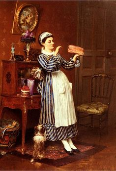 "Pierre Outin (1840-1899) ""Sweets for Mrs."" #classic #art #painting"