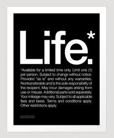 Life, The Fine Print - Via thenewspatroller.com