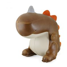 Zuny Dinosaur (Bobo II) Animal Bookend - Brown Each piece is handmade Made of PU leather, polyester fiber, iron sand Can be used as bookends, CD/DVD stand or door stops Perfect baby shower gift for boys and girls Weight: 1 kg Next Gifts, Paper Weights, Joss And Main, Special Gifts, Bookends, Unique Gifts, Brown, Fun Stuff, Amazon