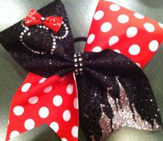 GLITZY CHEER BOWS!!! :: A Glitzy Mouse :: Perfect Princess Mouse Bow - Custom Glitzy Cheer Bows | Custom Competition Bows | Practice Bows | Rhinestone Logos | Personalized Beach Towels and Zebra Shorts