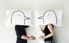 Love Bird Pillowcases, as seen on @apttherapy