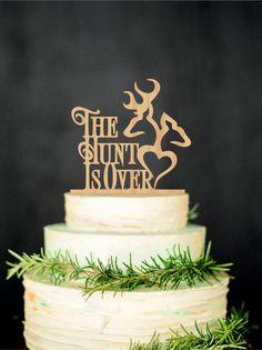Deer Wedding Cake Topper The Hunt Is Over by WeddingRusticDeco Price - $22