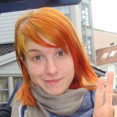 Hayley Williams: Glazed Orange Hair