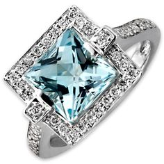 Frederic Sage Aquamarine Ring. My birthstone, must have!