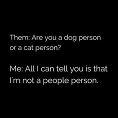 cat,kitty-Sooo me! dog cat kitty funny humor laugh laughing joke randomthoughts lol sarcasm notapeopleperson animal animals over peopl Funny Quotes, Funny Memes, Hilarious, Dog Quotes, Animal Lover Quotes, Life Quotes, Badass Quotes, Sarcastic Quotes, I Hate People