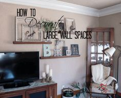 How To Decorate Around A TV | Black rectangle, Big black and Decorating