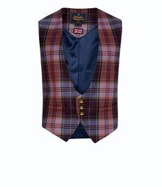 Morning Glory Tartan Waistcoat #Man #AW1415