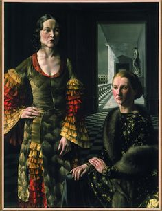 """Dubbel vrouwenportret (Double Portrait of Women)"", 1937 / Carel Willink (1900-1983) / Private Collection"