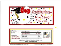 Kitty Graduation Candy Wrappers Gra-1181-WP