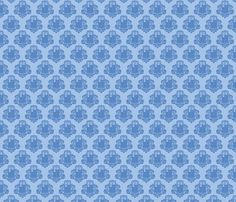 TARDamask fabric  fabric by travale on Spoonflower - custom fabric